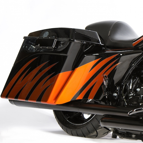 2009-2013 STRETCHED SIDE COVERS EXTENDED HARLEY DAVIDSON