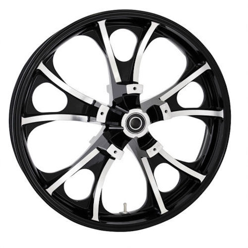 "21"" LARGO 3D BLACK CUT COASTAL MOTO FRONT WHEEL HARLEY DAVIDSON"