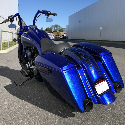 2009-2018 STRETCHED SADDLEBAGS BAGGER AND REAR FENDER EXTENDED MG PERFORMANCE HARLEY DAVIDSON TOURING