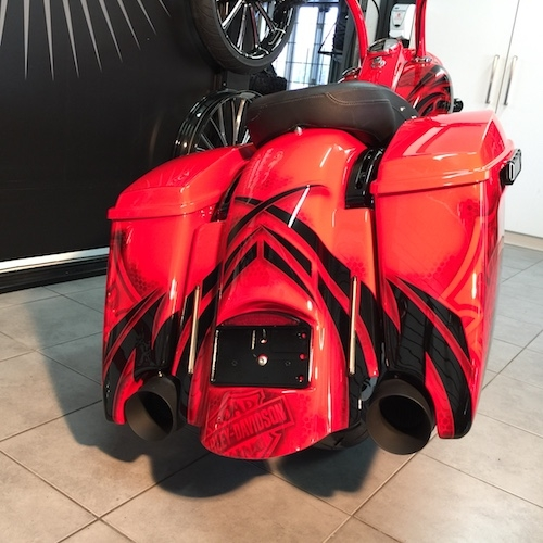 2009-2018 STRETCHED SADDLEBAGS BAGGER AND REAR FENDER EXTENDED MG